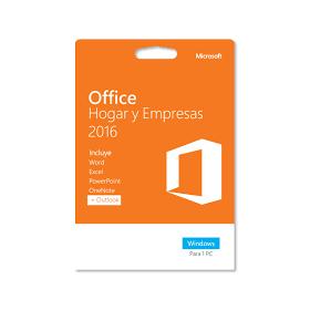 Office Hogar y Empresas 2016 32/64 Bits Dvd Caja
